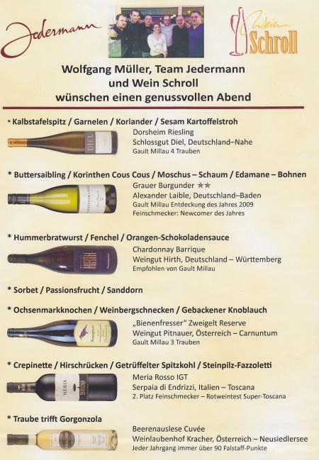 Menü Wolfgang Müller Januar 2014 Jedermann
