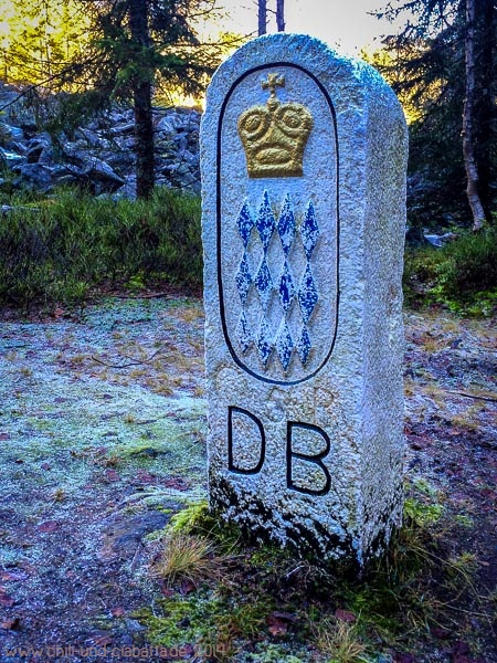 Historischer Grenzstein am Büchelbach