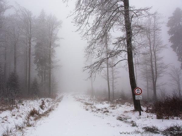 Schnee am Bretterschachten
