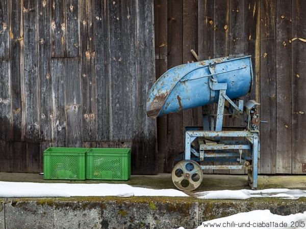 grün und blau