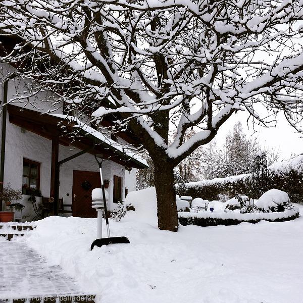 Schnee geschippt
