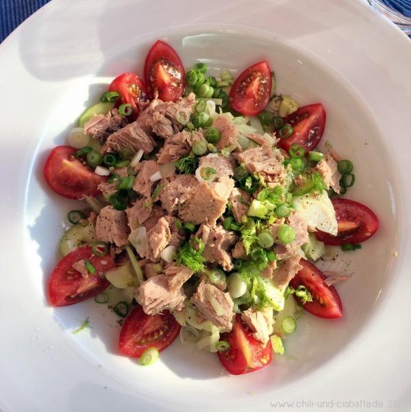 Bunter Fenchelsalat mit Thunfisch