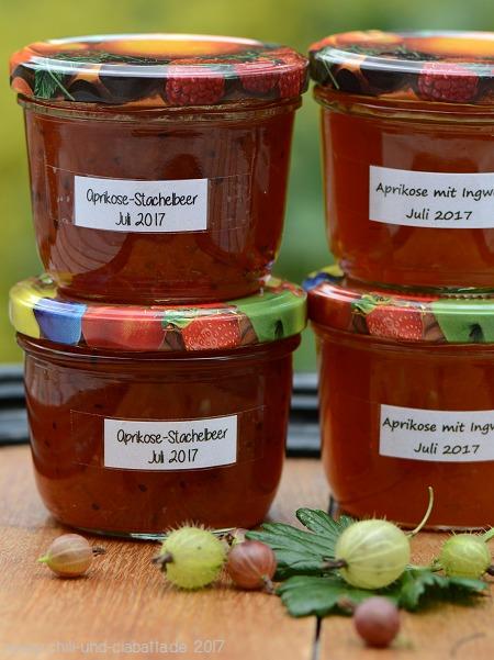 Aprikose-Stachelbeer-Konfitüre