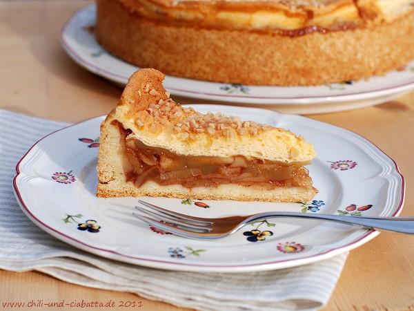 Apfelweinkuchen mit Schmandhaube