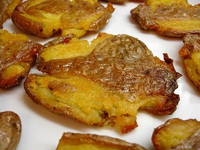 Knusprige platte Blechkartoffeln