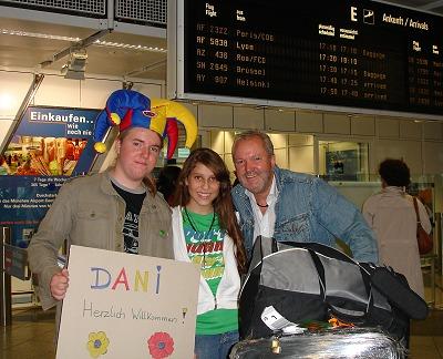 Ankunft Dani