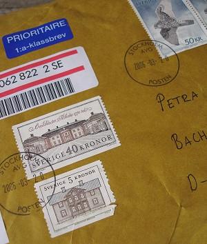 Briefumschlag aus Schweden