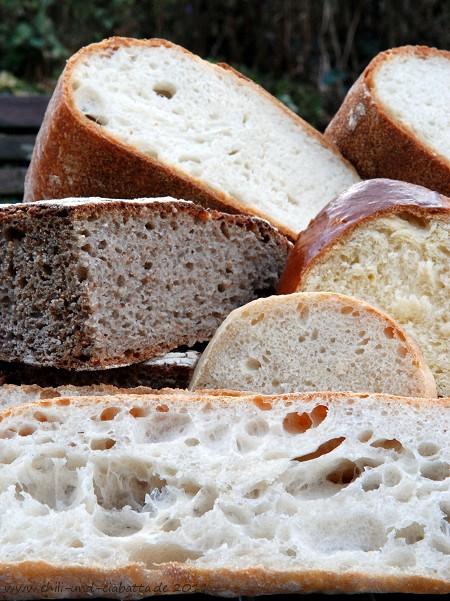 Brote im Anschnitt