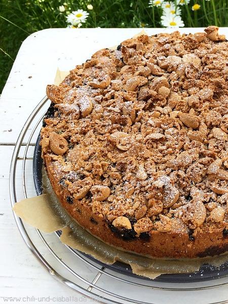 Heidelbeer-Amarettini-Kuchen