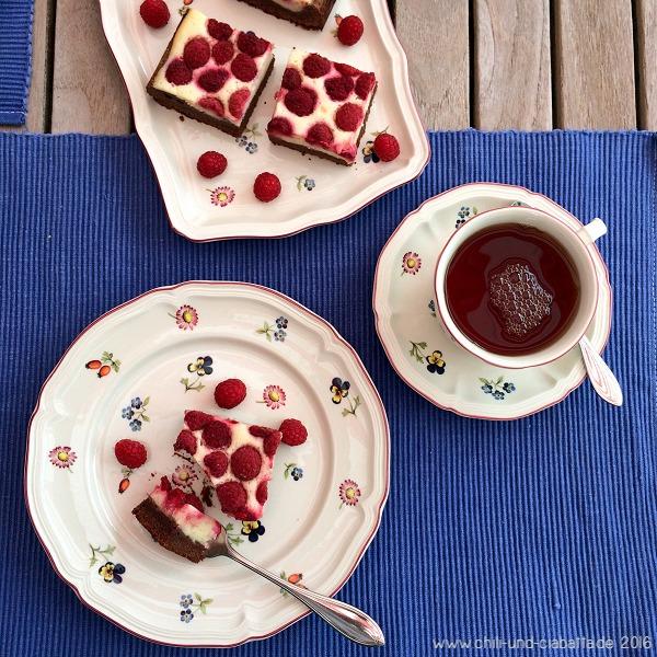 Himbeer-Frischkäse-Brownies