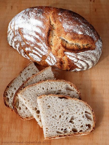 Brot aufgeschnitten