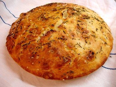 Brot in der Pfanne gebacken
