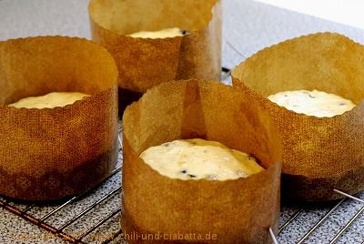 Panettone in der Form