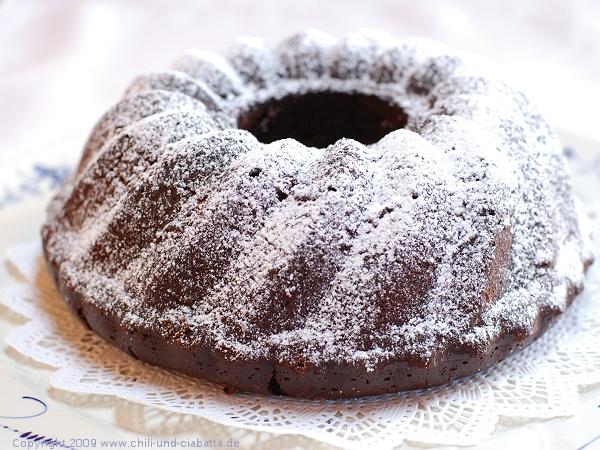 Kaffee-Schokoladen-Grand Marnier-Kuchen