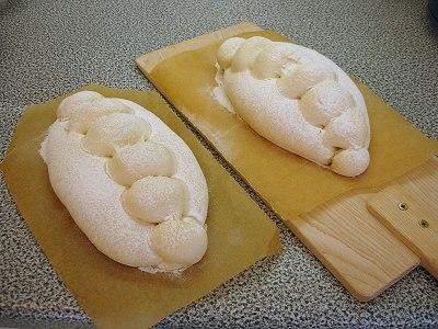 Brote fertig zum Einschießen
