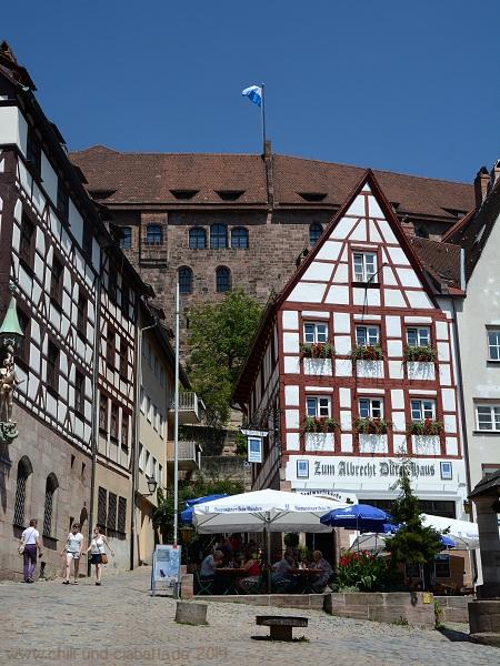 Nürnberg Blick zur Burg