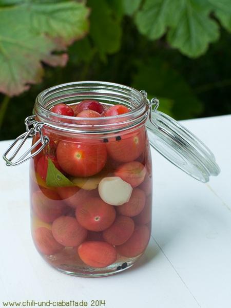 Eingelegte Tomaten nach Stevan Paul, Auf die Hand