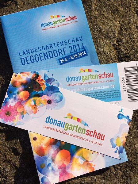 Eintrittskarten Donaugartenschau Deggendorf