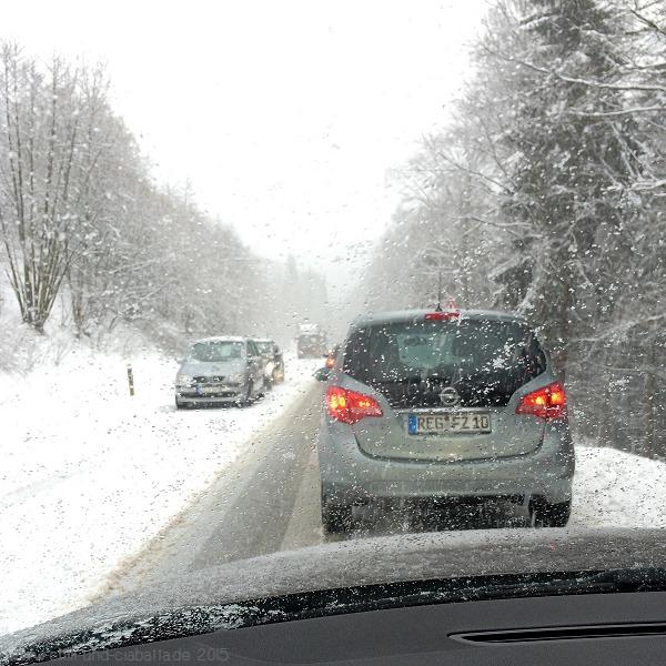 Schnee-Stau