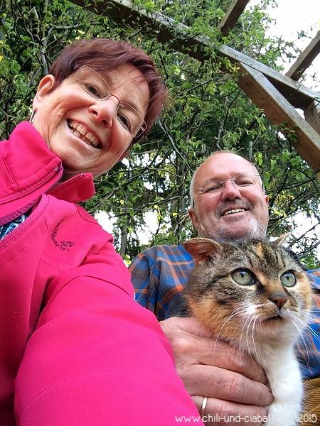 Selfie mit Katze