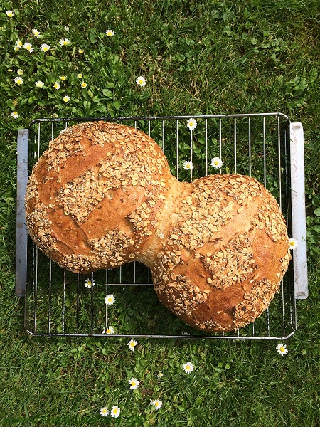 Doppeltes Hafer-Nuss-Brot