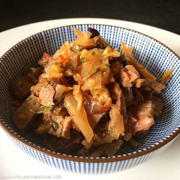 Rindfleischsalat mit Kimchi