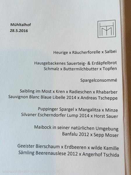 4-Gang-Menü Mühltalhof