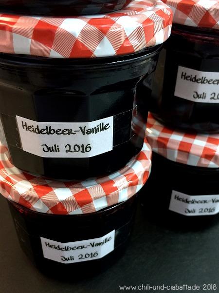 Heidelbeer-Konfitüre mit Vanille