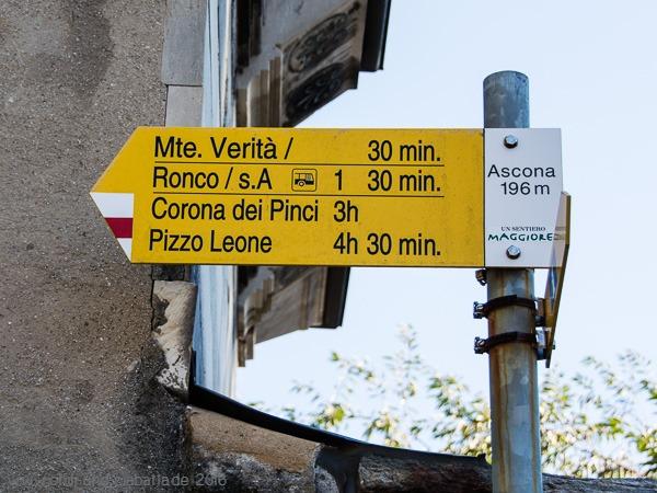 Wegweiser Ascona