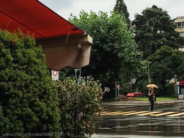 Regen in Locarno