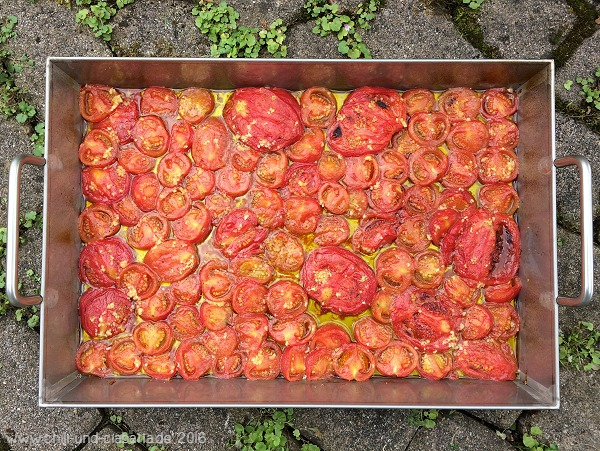 Tomaten nach dem Backofen