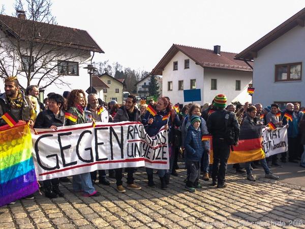 Anti-Nazi-Demo Arnbruck