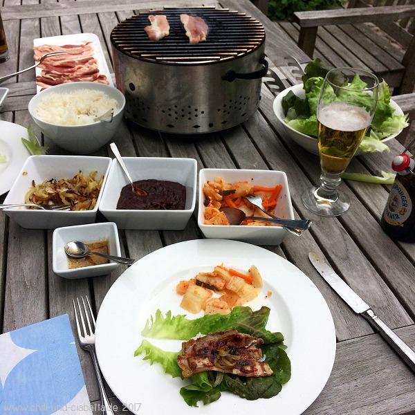 koreanischer Schweinebauch mit Ssamjang-Sauce