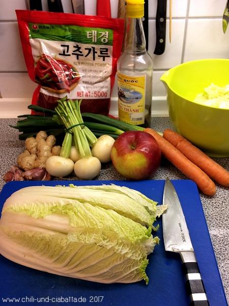 Zutaten Kimchi