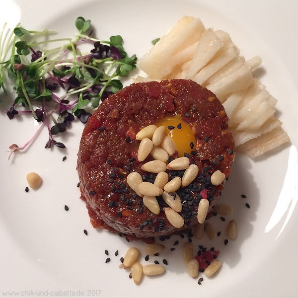 Koreanisches Rindfleisch-Tatar