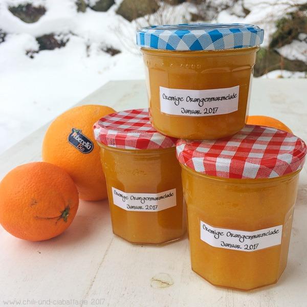 Cremige Orangenmarmelade mit Schalen