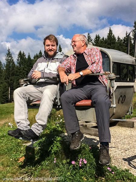 Moritz und Helmut im alten Sessellift