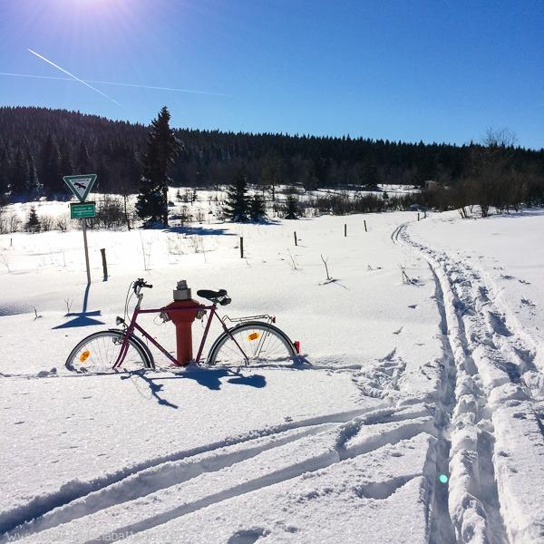 Fahrrad Schnee
