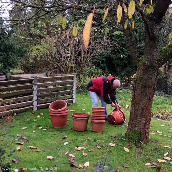 letzte Gartenarbeiten