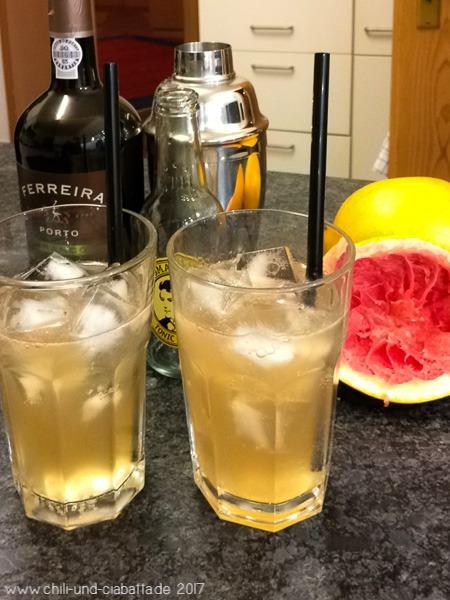 Port Tonic mit Grapefruit
