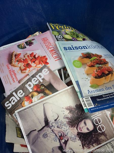 Ausmisten von Kochzeitschriften