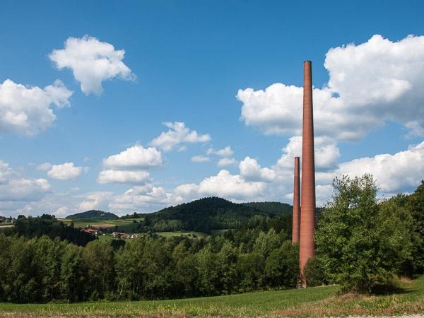 Türme der Papierfabrik Teisnach