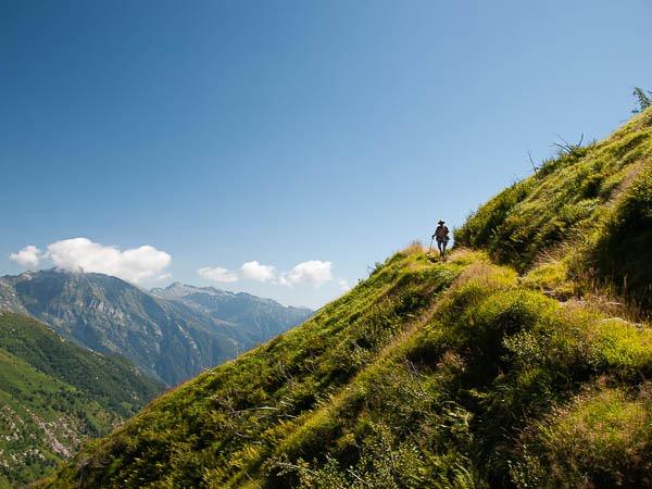 Weg von der Cima della Trosa zur Alpe di Bietri