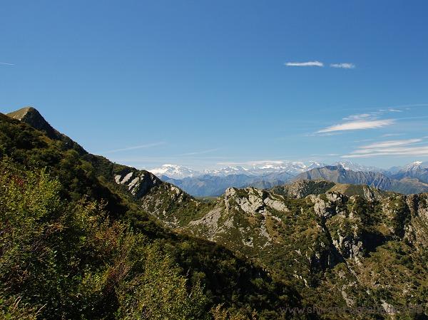 Berge Richtung Monte Rosa-Massiv