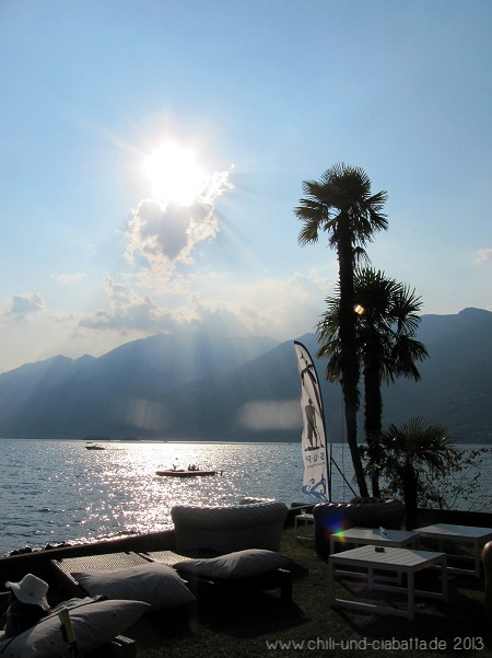 Abendstimung am Lido von Ascona