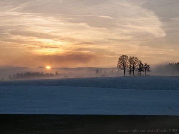 Sonnenuntergang bei Böbrach