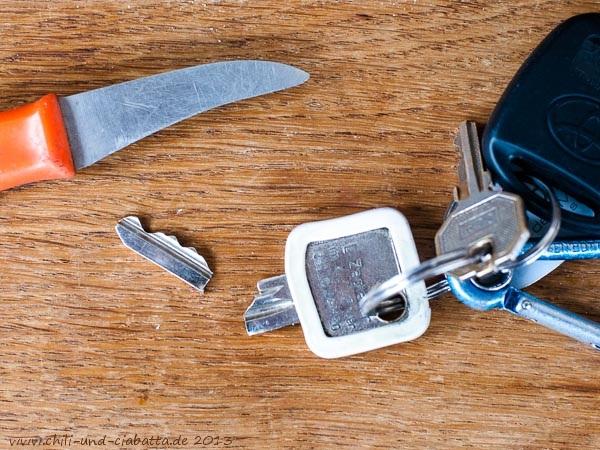 abgebrochener Hausschlüssel
