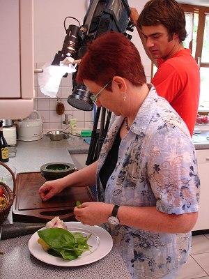 Dreh in der Küche