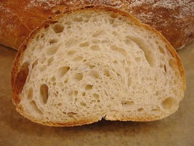 Scheibe Brot mit Reismehl