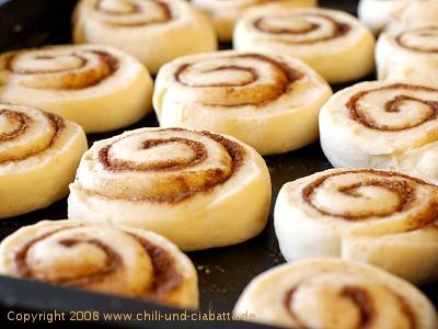 Cinnamon Rolls vor dem Backen
